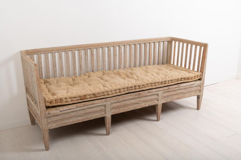 Late 18th Century Swedish Neoclassic Sofa Bench For Sale 2