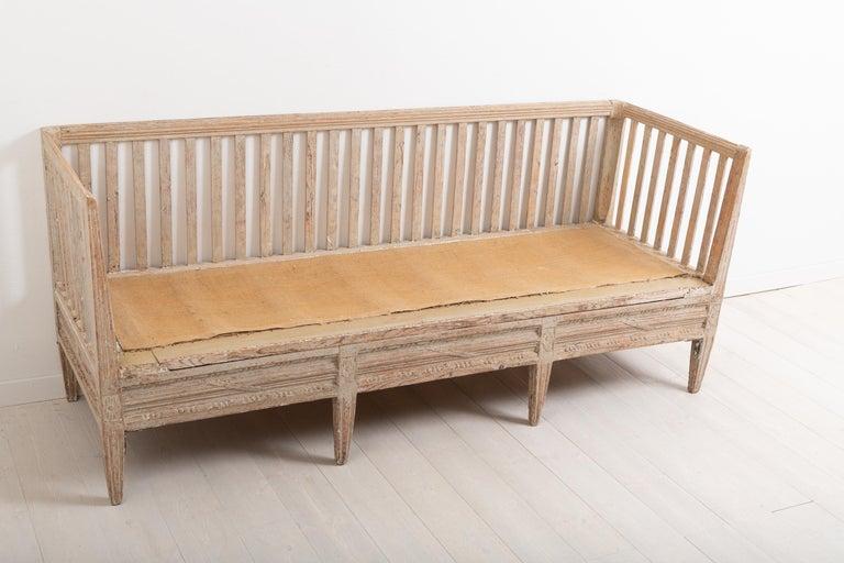 Late 18th Century Swedish Neoclassic Sofa Bench For Sale 3