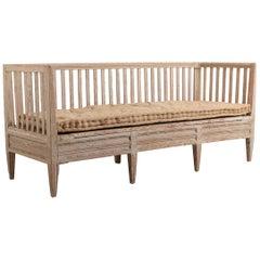 Late 18th Century Swedish Neoclassic Sofa Bench