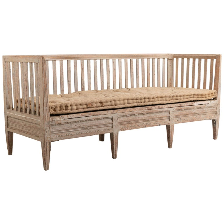 Late 18th Century Swedish Neoclassic Sofa Bench For Sale