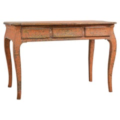 Late 18th Century Swedish Rococo Desk with Original Paint