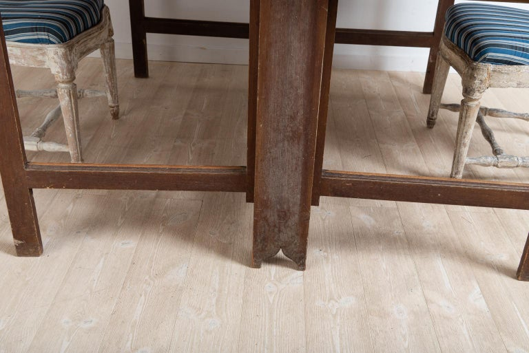 Late 18th Century Swedish Untouched Gustavian Drop-Leaf Table For Sale 5