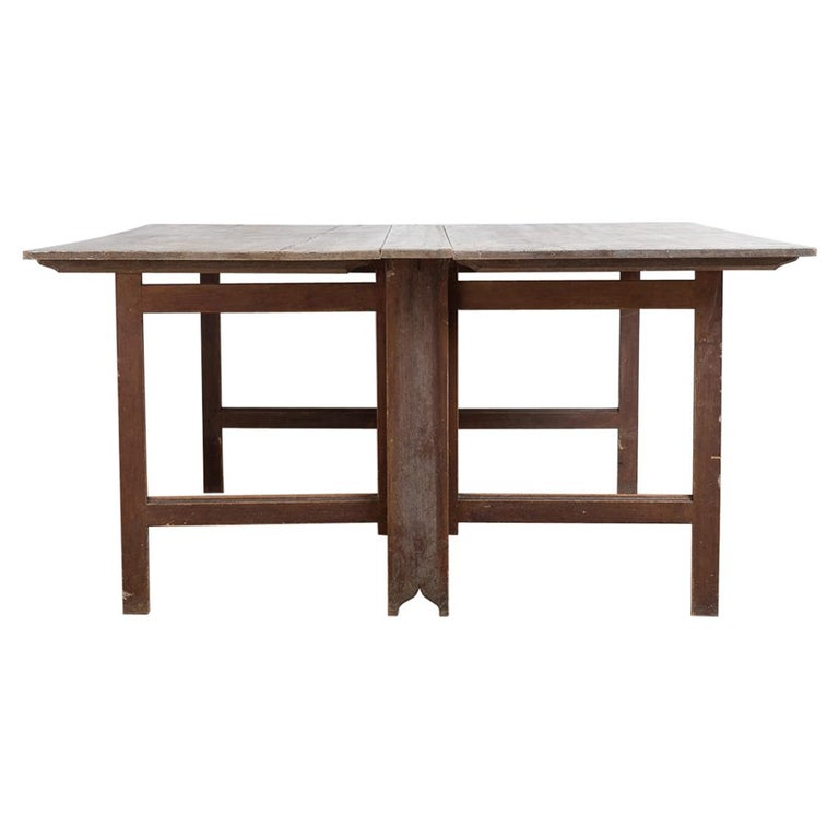 Late 18th Century Swedish Untouched Gustavian Drop-Leaf Table For Sale