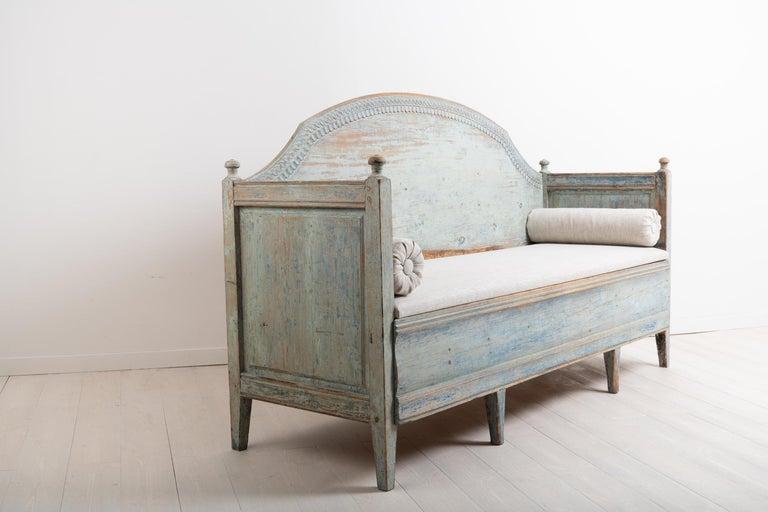 Pine Late 18th Century Unusual Swedish Gustavian Sofa