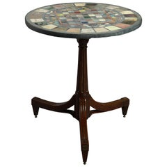 Late 18th Century Walnut Occasional Table with Specimen Top