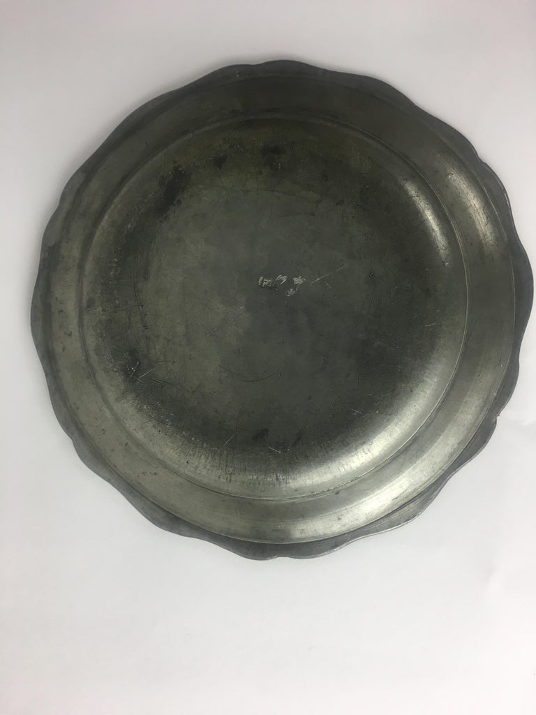 Late 18th-Early 19th Century French Pewter Plate For Sale 2