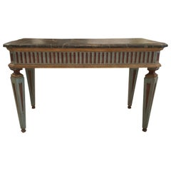 Late 18th Century Italian Louis XVI Console Table in Painted Wood