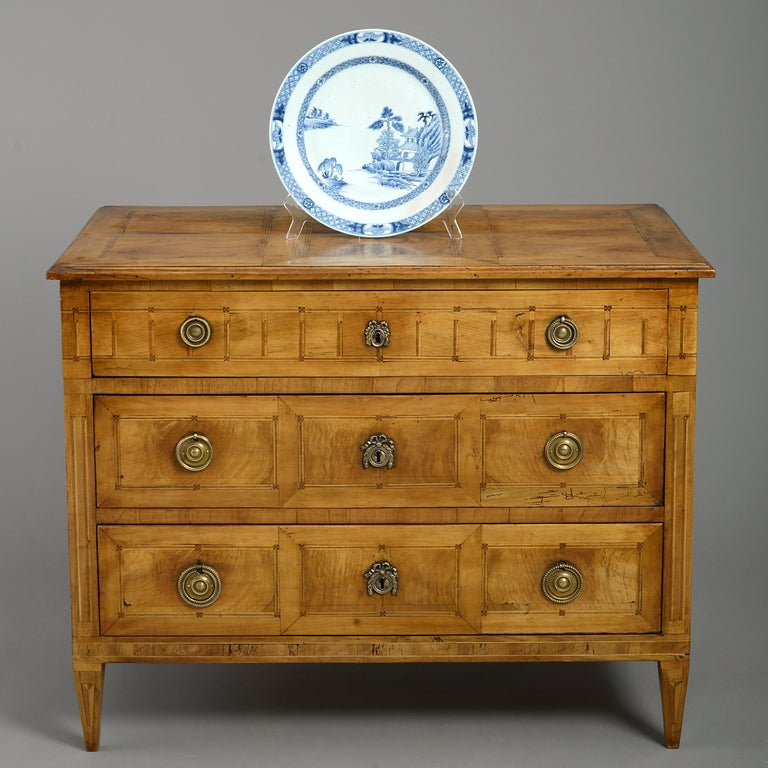 French Late 18th Louis XVI Period Walnut Commode