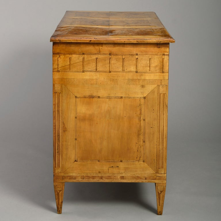 Parquetry Late 18th Louis XVI Period Walnut Commode