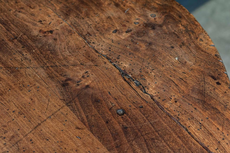 Late 18thc English Ash & Fruitwood Cricket / Tavern Table For Sale 2