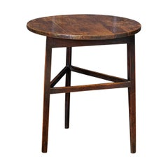 Late 18thc English Ash & Fruitwood Cricket / Tavern Table