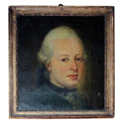 Late 18th Century English School Oil on Canvas of a Gentleman, circa 1780-1800