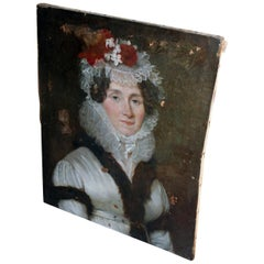 Late 18th Century French School Oil on Canvas Portrait of a Lady circa 1780-1790