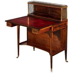 Late 18th Century Rosewood Sheraton Artists Desk