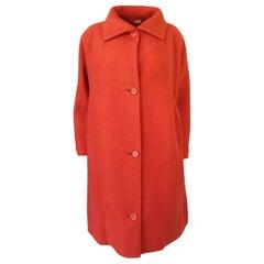 Late 1950s, Early 1960 Eisa by Cristóba Balenciaga Couture Orange Coat