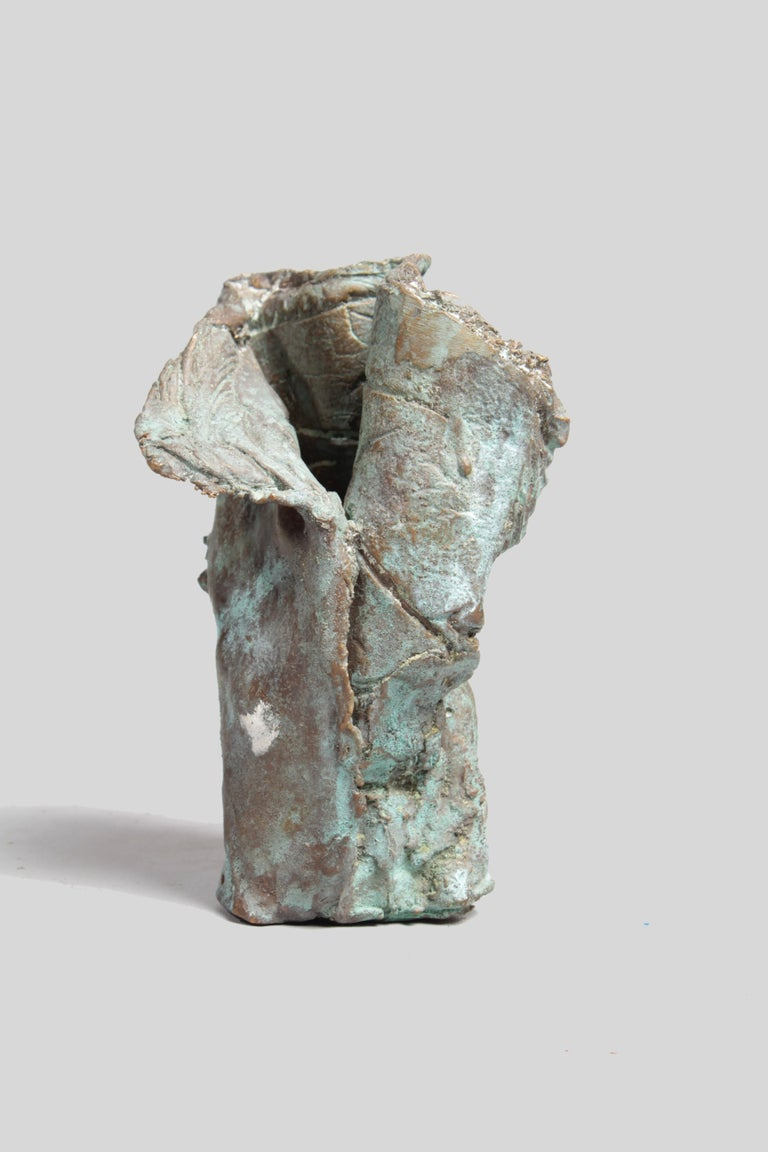 Hand-Crafted Late 1960s Brutalist Bronze Sculpture For Sale