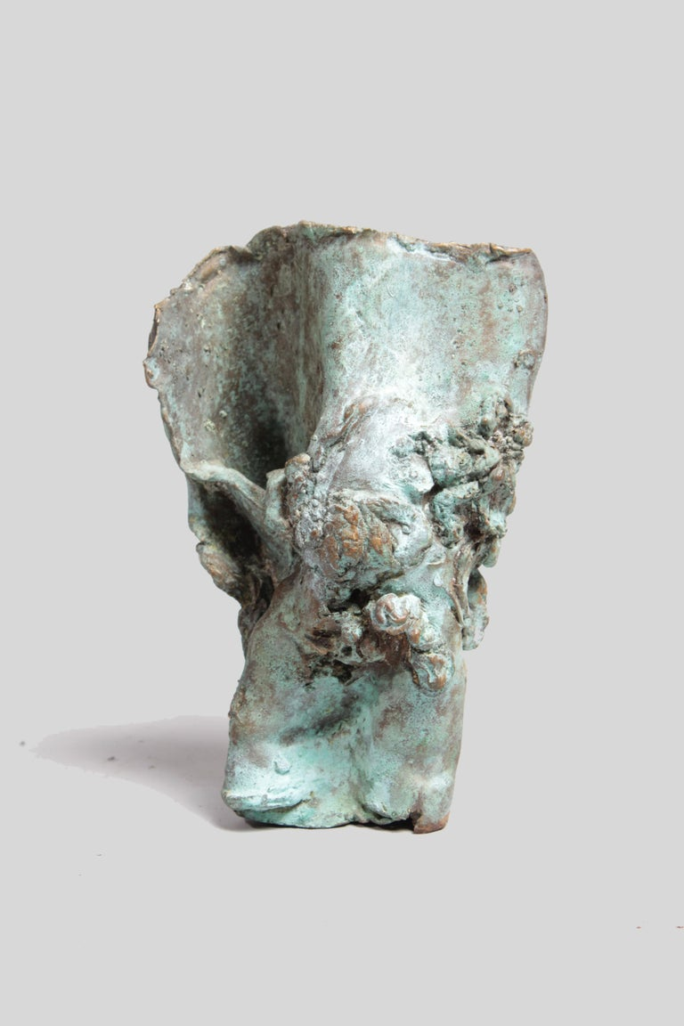 Mid-20th Century Late 1960s Brutalist Bronze Sculpture For Sale