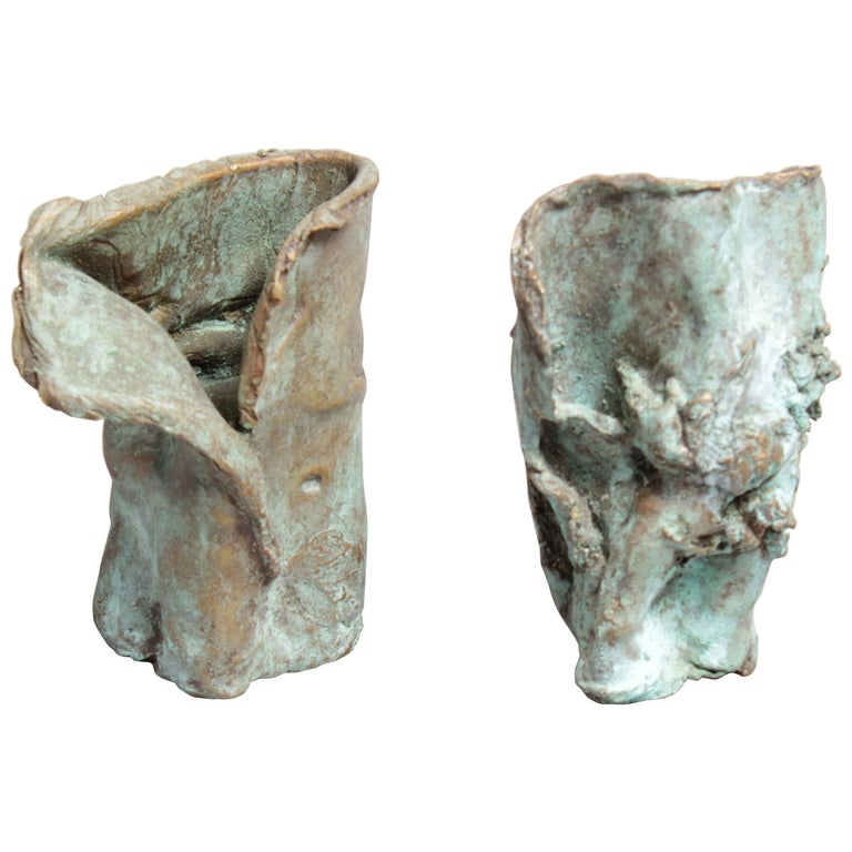 Late 1960s Brutalist Bronze Sculpture For Sale