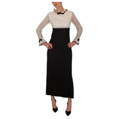 Late 1960s / Early 1970s Tuxedo Inspired Evening Dress