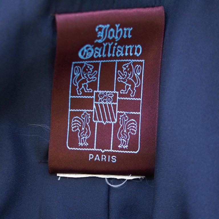 Late 1980s John Galliano Denim Patchwork Blazer For Sale 3
