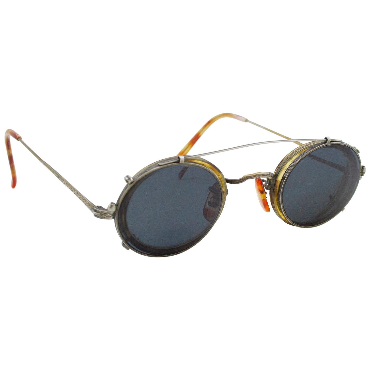 Late 1989's Oliver Peoples Clip on Sunglasses