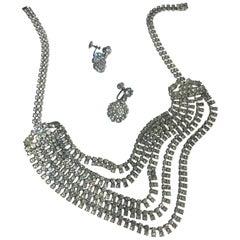Late 1990s Vintage Rhinestone Necklace