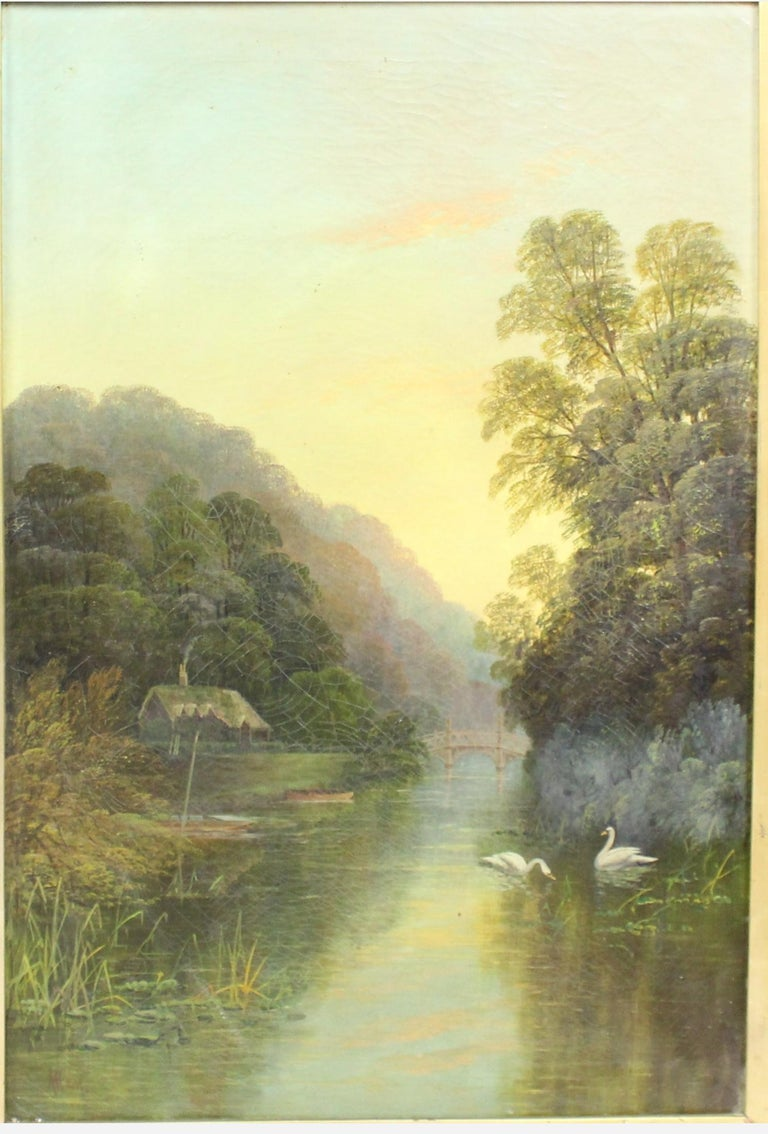 Period  19th century, circa 1890, English  Medium  Oil on canvas  Artist  Signed Ham to the lower left  Frame  64.5 x 85 cm / 25 1/2 x 33 1/2 in  Frame  Set in original Victorian gilt gesso frame  Condition Canvas with some