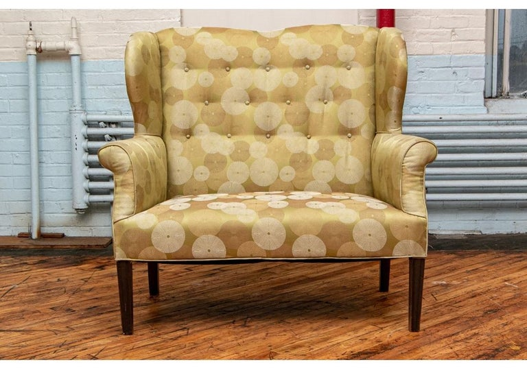 Late 19th Century English Settee Newly Upholstered For Sale 4