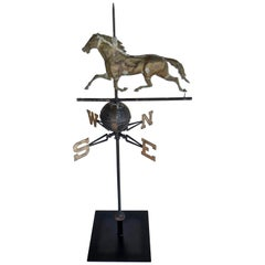 """Ethan Allen"" Running Horse Weathervane by Harris & Co. Boston, Ma."