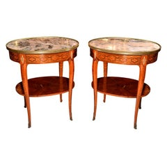 late 19th c Louis  XVI  side tables