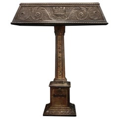 Late 19th C Renaissance Revival Library Lamp