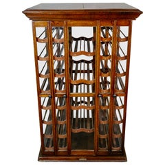 Late 19th Century Showcase Spool Wine Cabinet by The Exhibition Showcase Co.