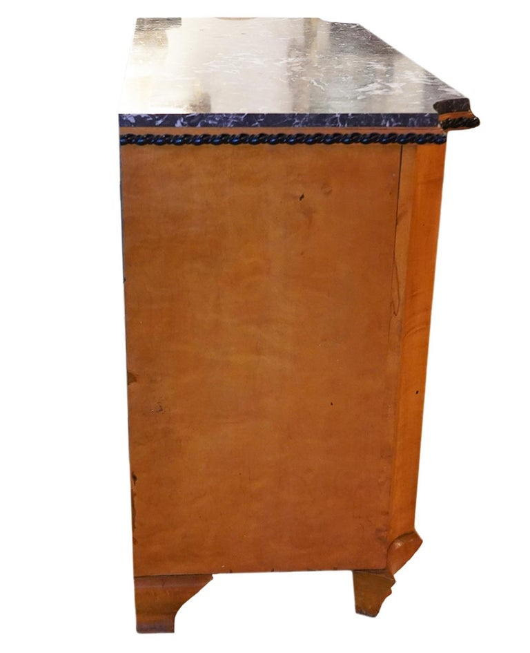 Late 19th Century Austrian Biedermeier Style Marble-Top Chest of Drawers For Sale 6