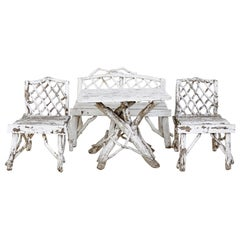 Late 19th Century 4-Piece Bentwood Garden Furniture