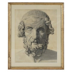 Late 19th Century Academic Drawing of Homer
