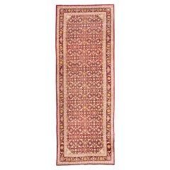 Late 19th Century Agra, Rug from India, Design of Palms and Flowers, circa 1900