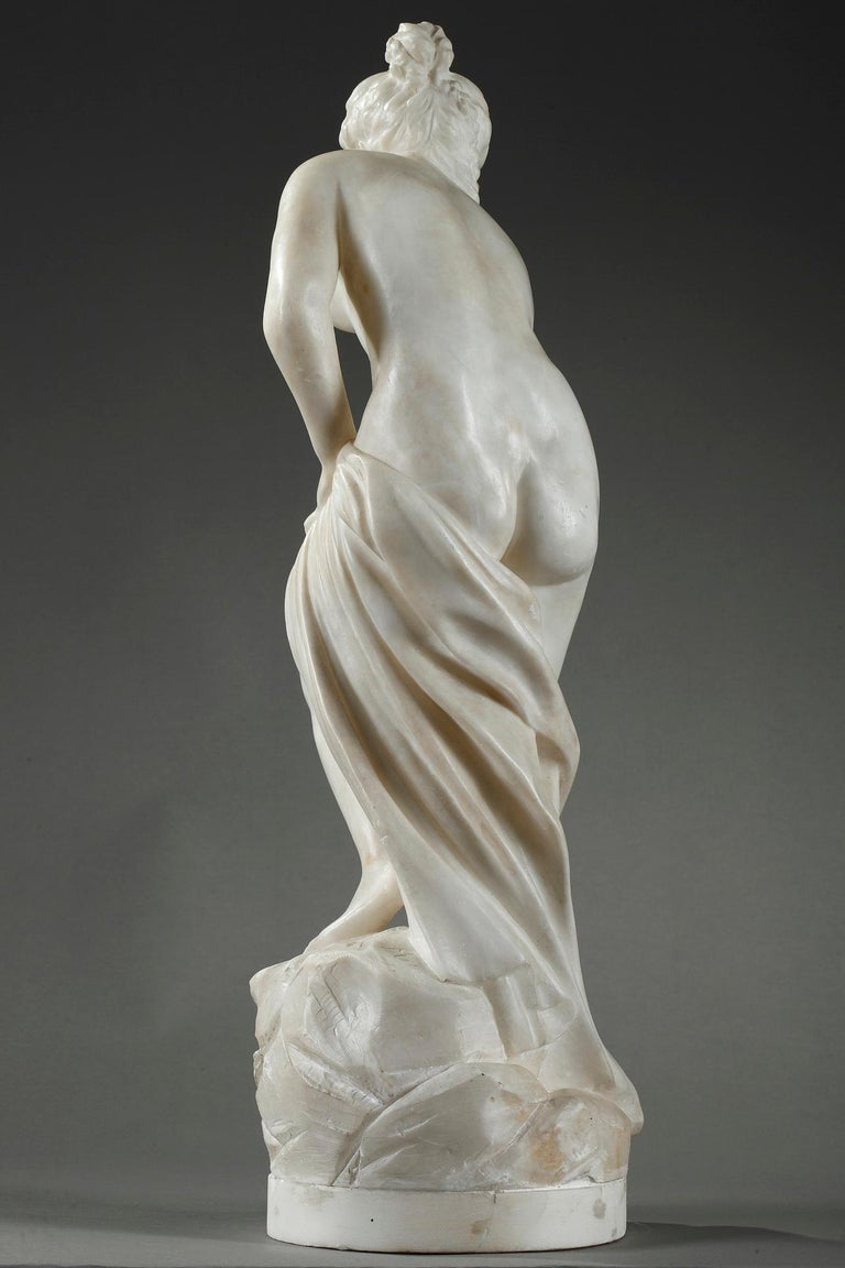 Late 19th Century Alabaster Statue, Bather by Guglielmo Pugi 6
