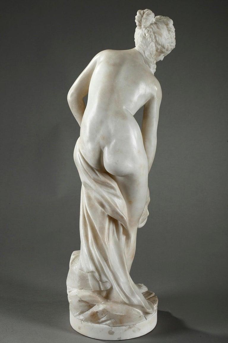 Late 19th Century Alabaster Statue, Bather by Guglielmo Pugi 7