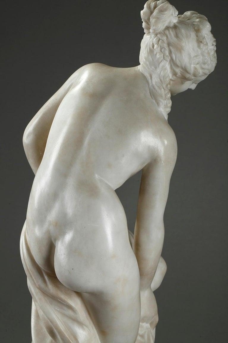 Late 19th Century Alabaster Statue, Bather by Guglielmo Pugi 8