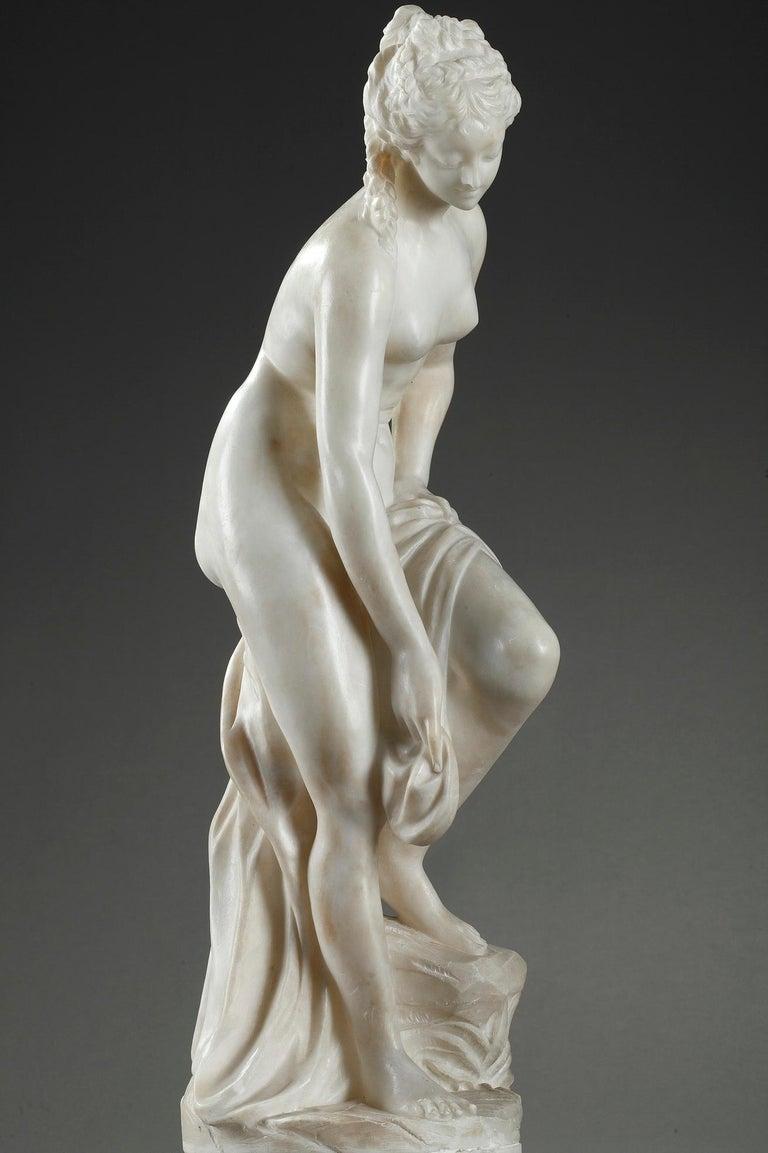 Late 19th Century Alabaster Statue, Bather by Guglielmo Pugi 9