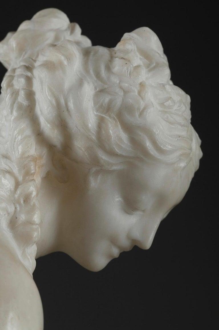 Late 19th Century Alabaster Statue, Bather by Guglielmo Pugi 10