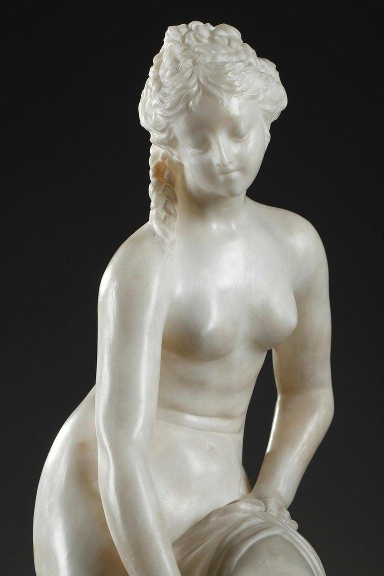 Late 19th Century Alabaster Statue, Bather by Guglielmo Pugi 11