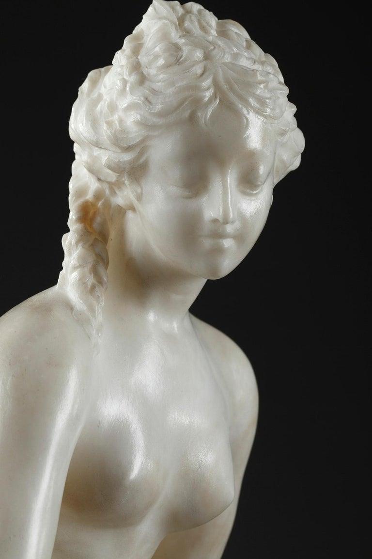 Late 19th Century Alabaster Statue, Bather by Guglielmo Pugi 12