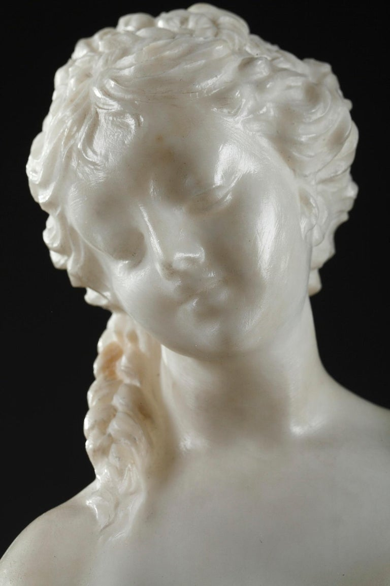 Late 19th Century Alabaster Statue, Bather by Guglielmo Pugi In Good Condition In Paris, FR