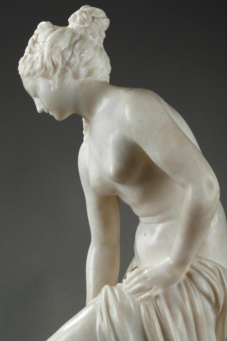Late 19th Century Alabaster Statue, Bather by Guglielmo Pugi 2