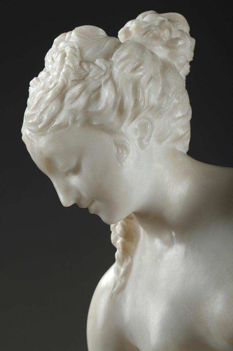 Late 19th Century Alabaster Statue, Bather by Guglielmo Pugi 3