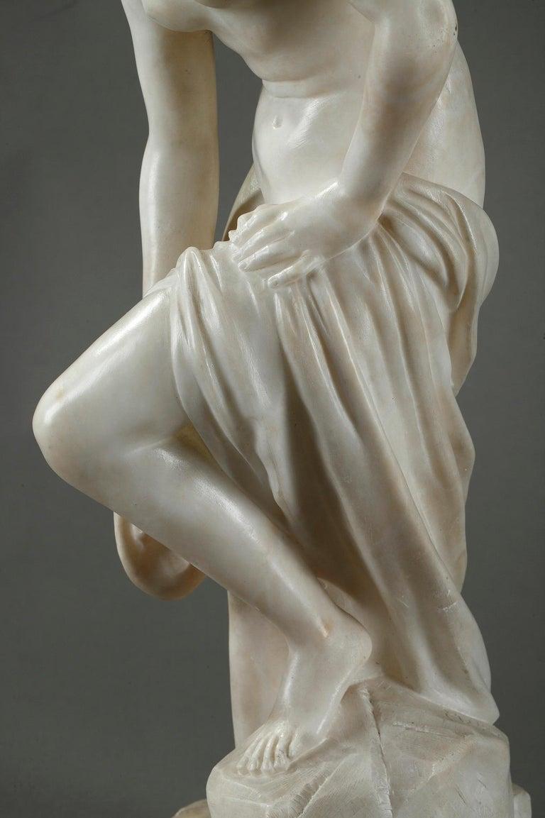 Late 19th Century Alabaster Statue, Bather by Guglielmo Pugi 4
