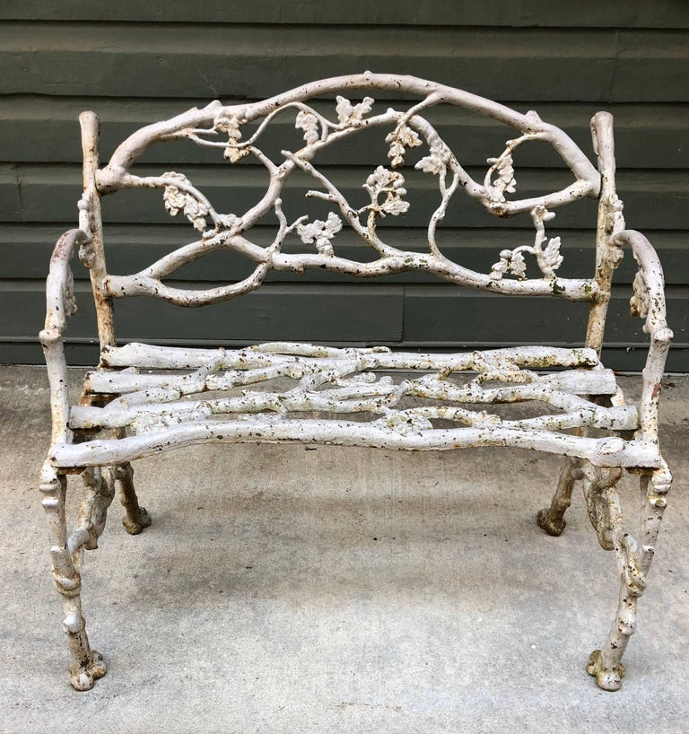 Late 19th Century American Cast Iron Garden Benches For Sale 1