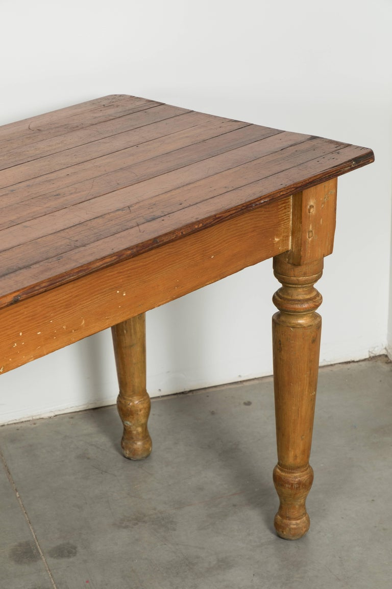 Carved Late 19th Century American General Store or Harvest Table For Sale