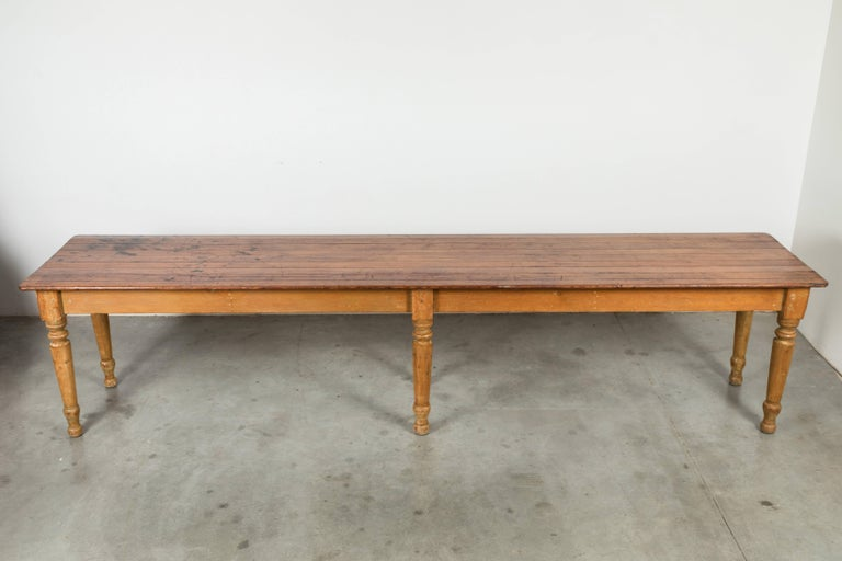 Late 19th Century American General Store or Harvest Table In Good Condition For Sale In Santa Monica, CA
